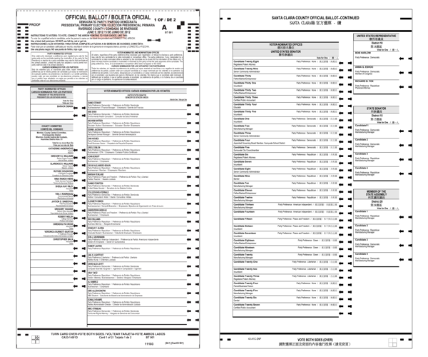 Ballot image double wide column