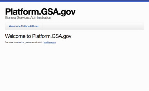 A blank page with with an invitation to email iaw@gsa.gov for more information