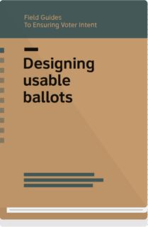 Field Guide 1 cover- Designing usable ballots