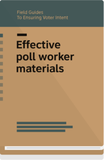 Field Guide 4 cover- Effective poll worker materials