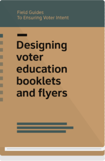 Field Guide 6 cover- designing voter education booklets and flyers