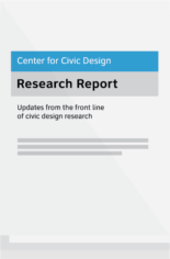 Center for Civic Design Research Report - Updates from the front line of civic design research