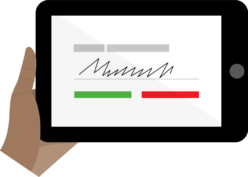Usability of Epollbooks (logo: signature)