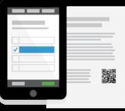 Remote ballot marking (logo: tablet and printed ballot)