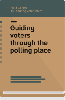 Field Guide 8 cover-guiding voters through the polling place