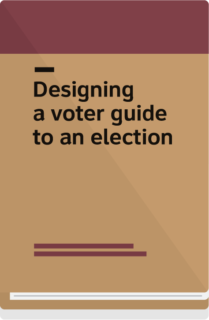Cover: designing a voter guide to an election
